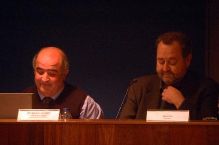 Diálogo Juan Bas-Ignacio Jáuregui en la presentación de la novela en Bilbao